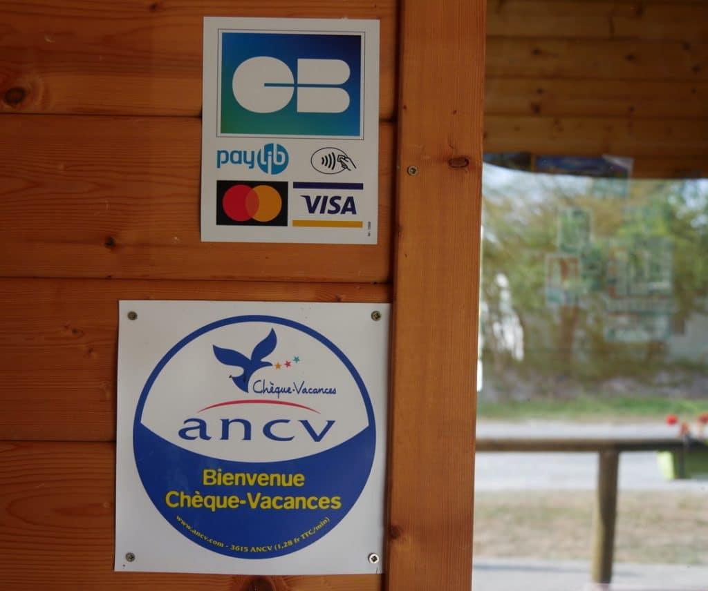 Moyen de paiement accepté au camping de Keremma CB et ANCV